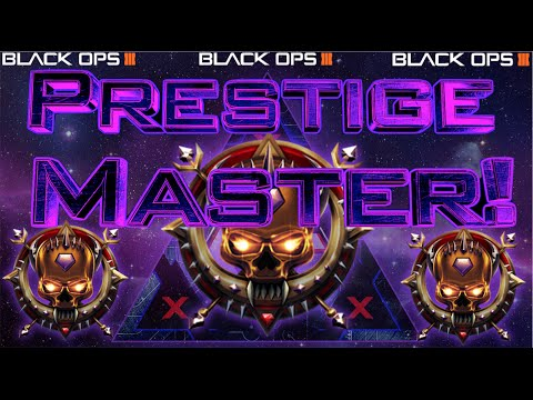 BO3 MASTER PRESTIGE RANK UP FAST! DOUBLE XP WEEKEND GAMEPLAY!!!