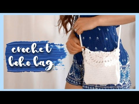 Crochet Boho Crossbody Bag // Crochet Purse