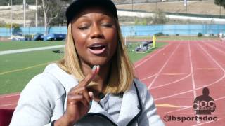World's Fastest Woman Carmelita Jeter gives testimonial about Doc Dossman
