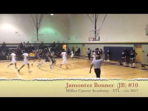 Jamontez Bonner #10 - Miller Career Academy Phoenix Basketball - STL