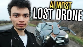 ALMOST LOST MY DRONE! (AUDI RS4 VS DJI MAVIC PRO)