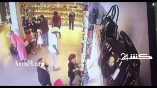 ڤيديو يوثق سرقة سائحة من طرف امرأة بممر لبرانس بمراكش