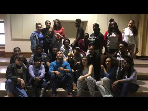 South Philadelphia High School CAPA students rehearse Hamilton song with OBC member