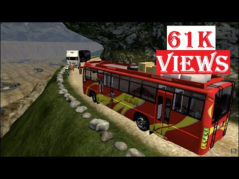 Indian Private Bus Overloaded On Dangerous Roads ( MAP PERU ) ETS2 # 3
