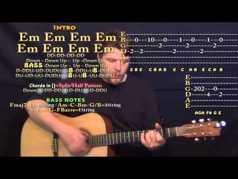 Daddy (PSY) Guitar Lesson Chord Chart - Capo 2nd