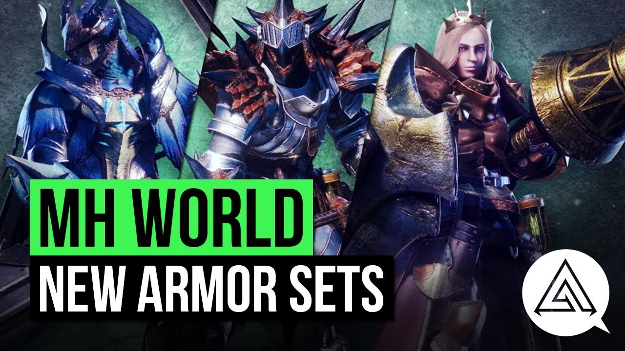 Monster Hunter World All New Returning Armor Sets So Far Youtube
