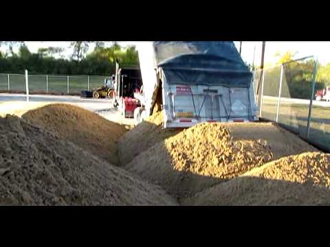how to make a sand volleyball court