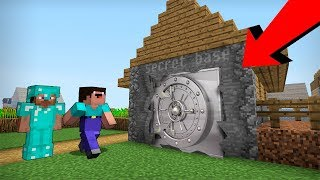 Noob vs Pro : NO ONE HAS EVER NOTICED THIS SECRET BASE in Minecraft Battle family