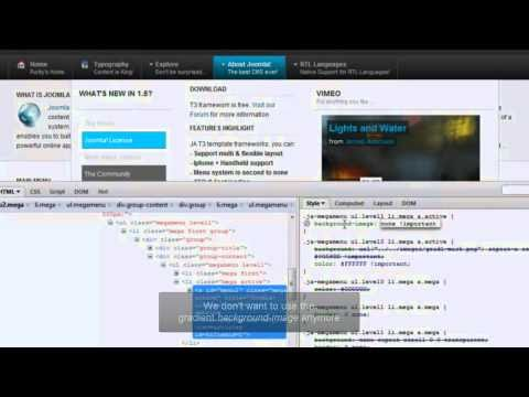 Making A Joomla! Template In 30 Minutes With JAT3 Framework V2 - (Video #5 - Usertheme Part 2/2)