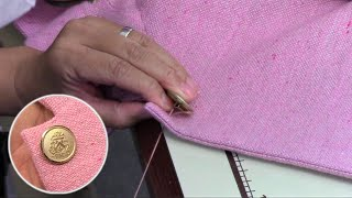 How to sew a Button of a Jacket (Blazer)