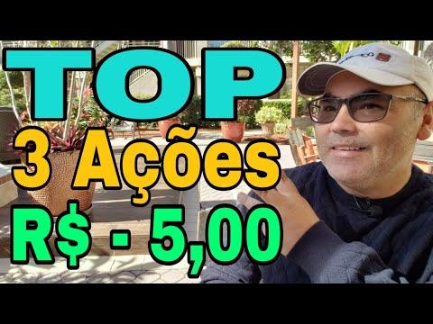 TOP 3 Ações que custam menos que R$ 5,00 reais I Peterson Siqueira