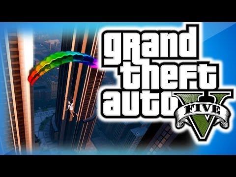 GTA 5 Online Funny Moments 11 - IAA Building Fun, Trolling Delirious, Dildo, and Parachute Fails!