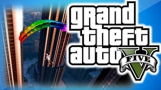 GTA 5 Online Funny Moments 11 - IAA Building Fun, Trolling Delirious, Dildo, and Parachute Fails!