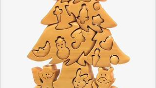 Christmas Tree, Wooden Jigsaw Puzzle By Kalistah.com