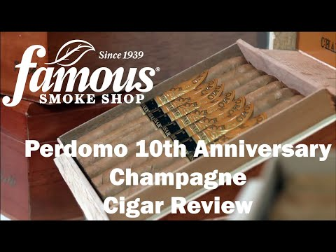 Perdomo 10th Anniversary Champagne Cigars Review - Famous Smoke Shop