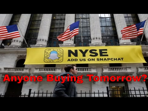 SnapChat Stock SNAP Begins Trading Tomorrow 03/02/2017