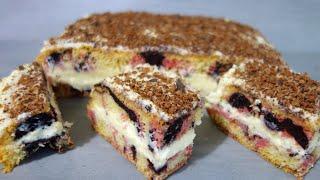 "Ciasto ""Huragan"" - przepis na lekkie domowe ciasto z pysznym kremem"