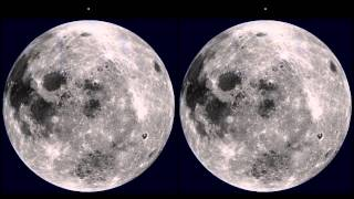 Moon Rotating in 3D [Smooth Motion 60 FPS 1080p HD]