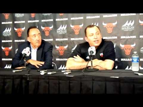 Gar Forman and Tom Thibodeau Bulls Media Day 2012