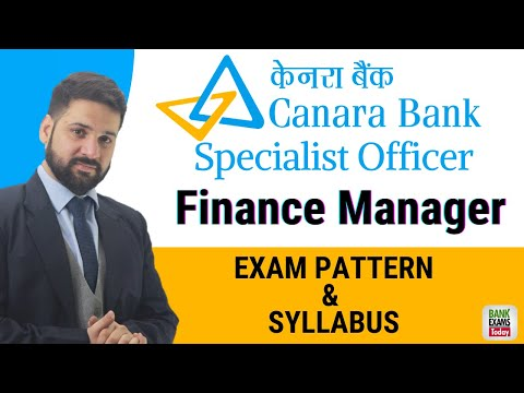Canara Bank Specialist Officer: Manager Finance 2020