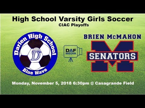 Darien Girls Varsity Soccer vs Brien McMahon