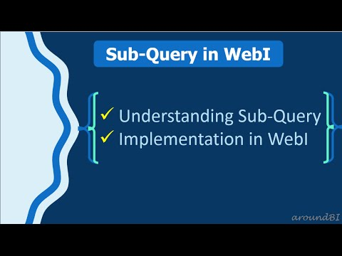 Sub-Query in WebI - Learn with Simple example - Most Popular Videos