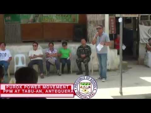 BOHOL PUROK POWER MOVEMENT AT TABU-AN, ANTEQUERA, BOHOL