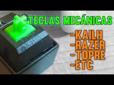 Kailh, Razer, Topre y demás teclas mecanicas del mercado.