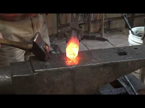 Forging hammers with alternate methods for punching the eye.
