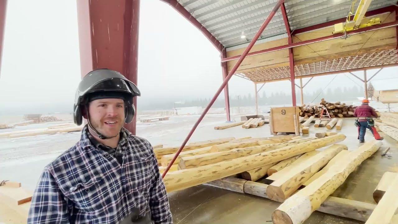 LOG HOME HANDCRAFTING- Pre- Assembling Meadowlark's Lakeside Rancher and Custom Green Gables