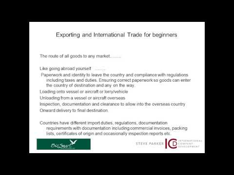 Exporting and International Trade for beginners