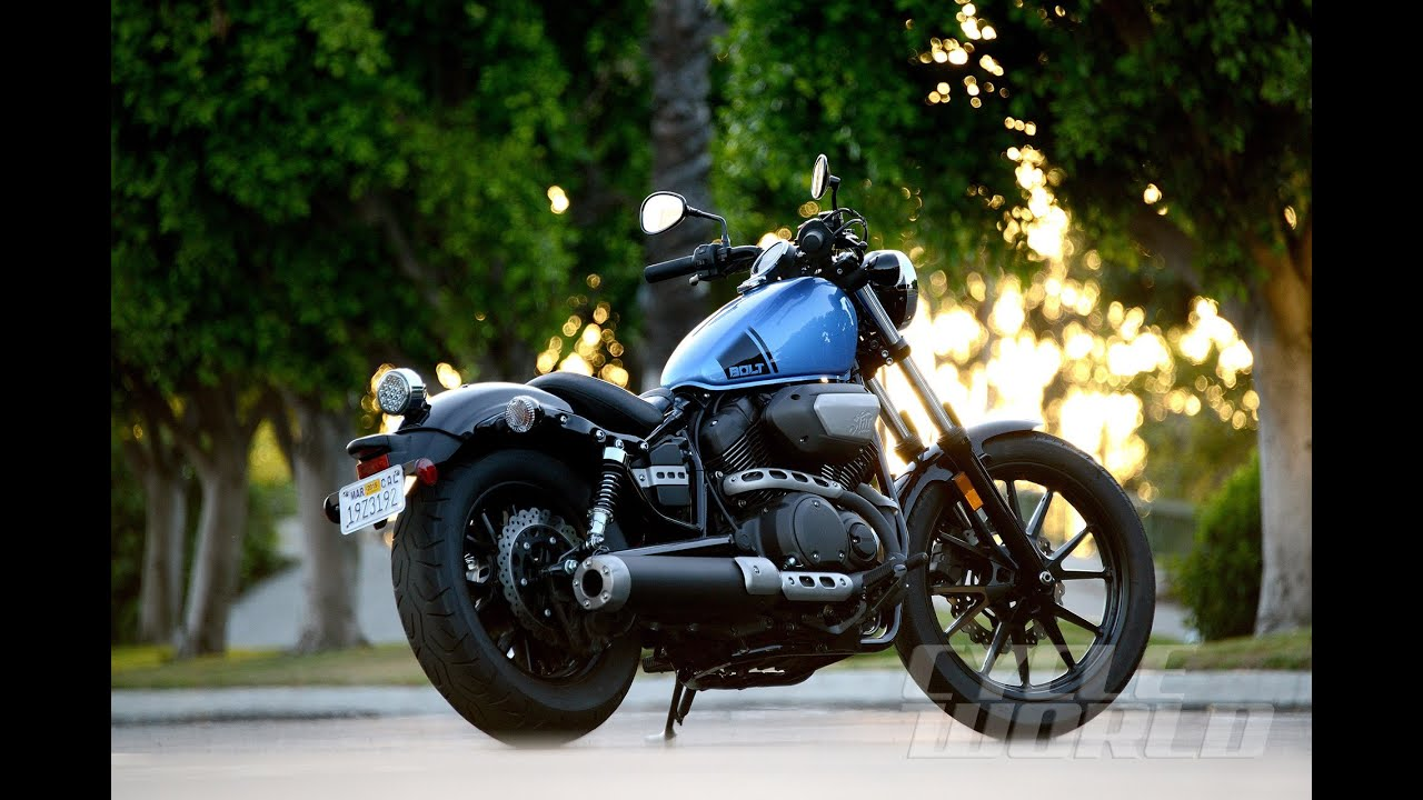 Blue Yamaha Bolt