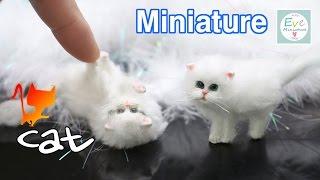 진짜같은 ✔미니어쳐 고양이 만들기 Miniature Animal ✔Cat Polymer clay Tutorial