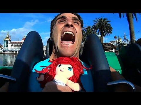 Riding Roller Coasters with The Little Mermaid at Disney California !  Konas Vlog  Konas2002