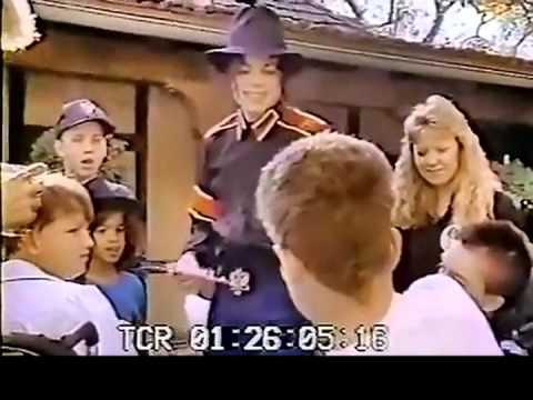 1992 Michael Jackson Greets Make-A-Wish Foundation's David Sonnet At Neverland