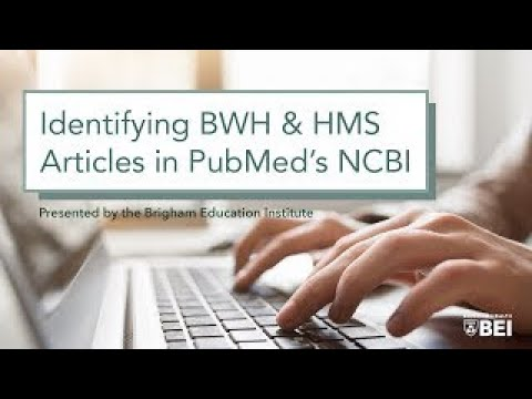 "Medical Library ""How To"" Series: Applying NCBI filters for BWH and HMS on YouTube"