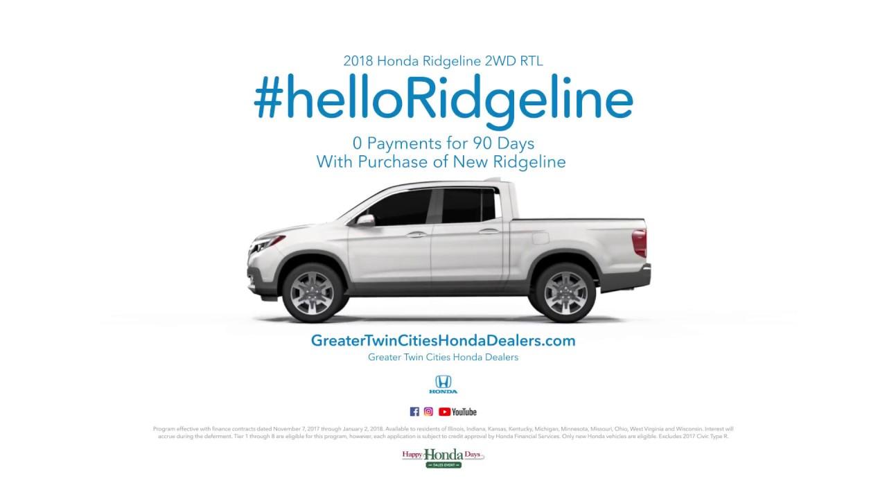 Hello ridgeline happy honda days 2018 ridgeline youtube for Twin cities honda dealers