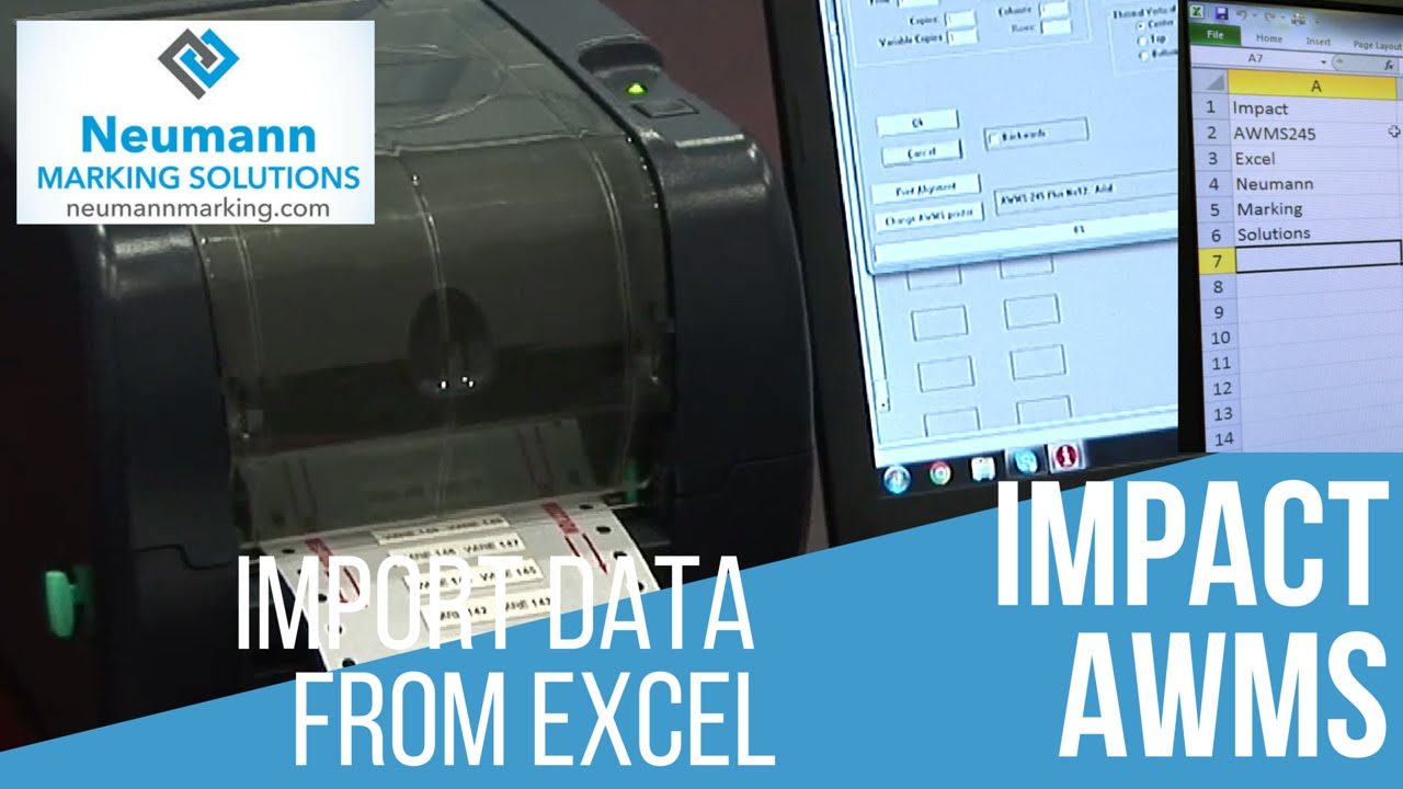 Importing Data from Excel for Heat Shrink Sleeve Printer - YouTube