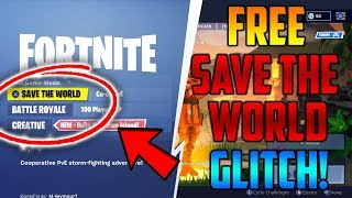 HOW TO GET SAVE THE WORLD FOR FREE ON FORTNITE!*SEASON 8* (TUTORIAL) | XBOX, PS4 & PC-FORNITE