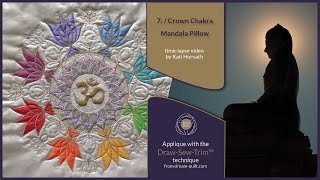 "How it was made - ""7th Crown Chakra Mandala"" Pillow (DST / Time-lapse)"