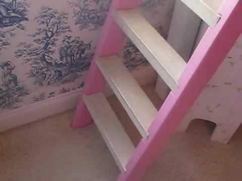 Custom princess castle loft bed for sale youtube - Unique beds for sale ...
