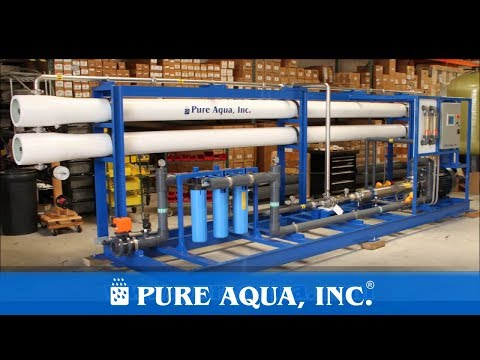 Industrial Seawater Reverse Osmosis Saudi Arabia 46,000 GPD   www.PureAqua.com