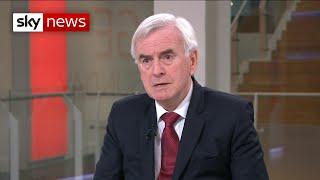 John McDonnell: PM is behaving like a 'spoiled brat'