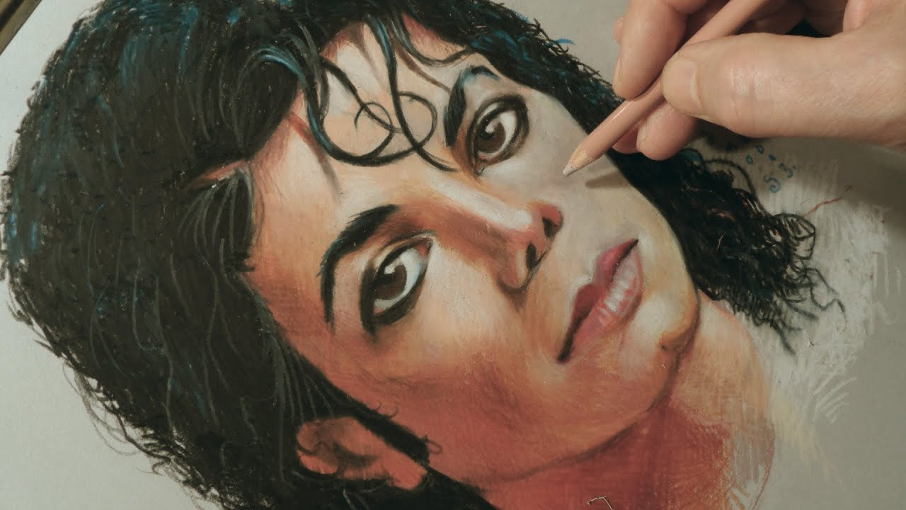 Drawing Michael Jackson the King of Pop ♕ Jackson Portrait ...