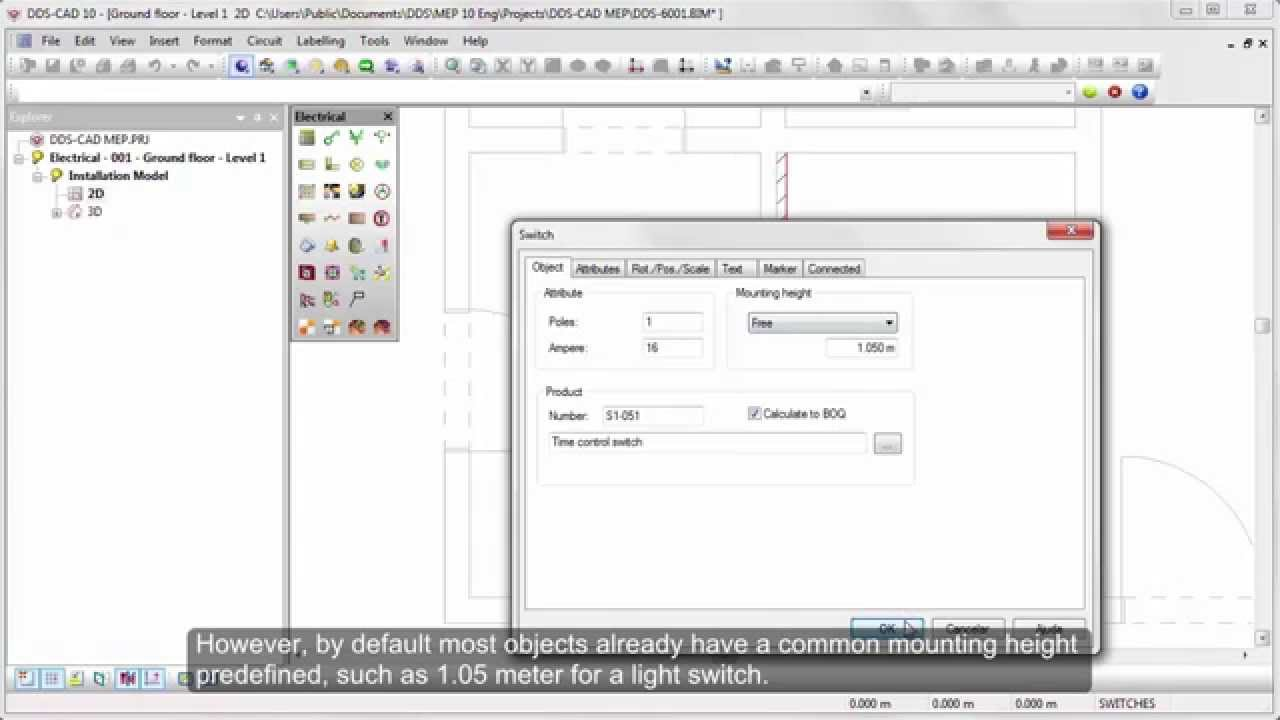 Dds Cad Electrical Designing Low Voltage Systems In 2d And 3d Electronic Wiring Diagram Symbols Darren Youtube Premium