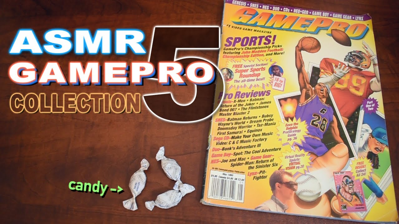 ASMR - GamePro Magazines Part 5 - whispering, mouth sounds, page flipping, repeating,  male voice