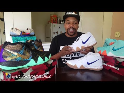 """KYRIE IRVING'S NIKE KYRIE 4 """"UNCLE DREW"""" EDITION SNEAKER REVIEW PLUS ON FEET"""