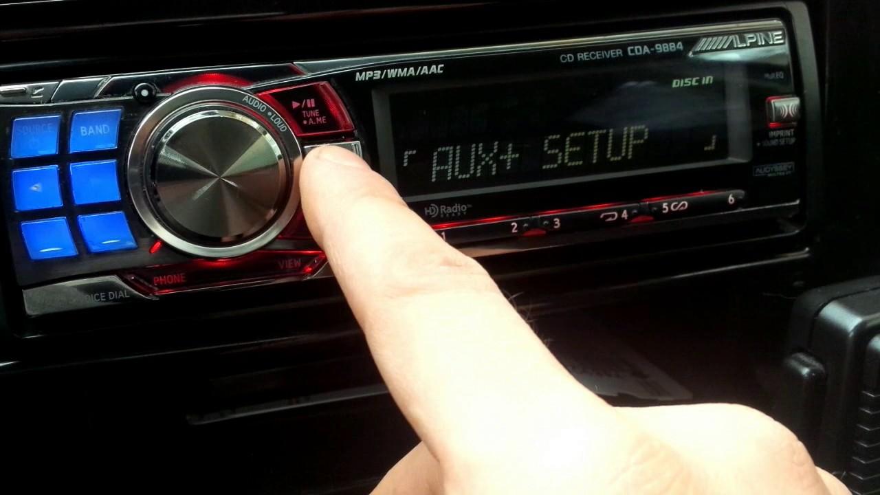 alpine cda 9884 audio functions youtube rh youtube com Alpine PDX V9 Wiring Diagrams Alpine CDA 9885 Harness