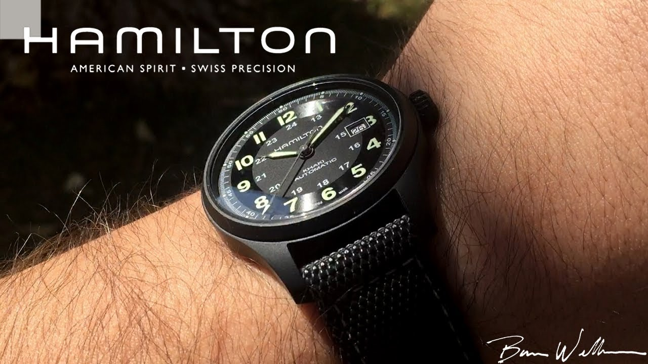 936035d26a4 Hamilton Khaki Field Titanium - Stealth - YouTube