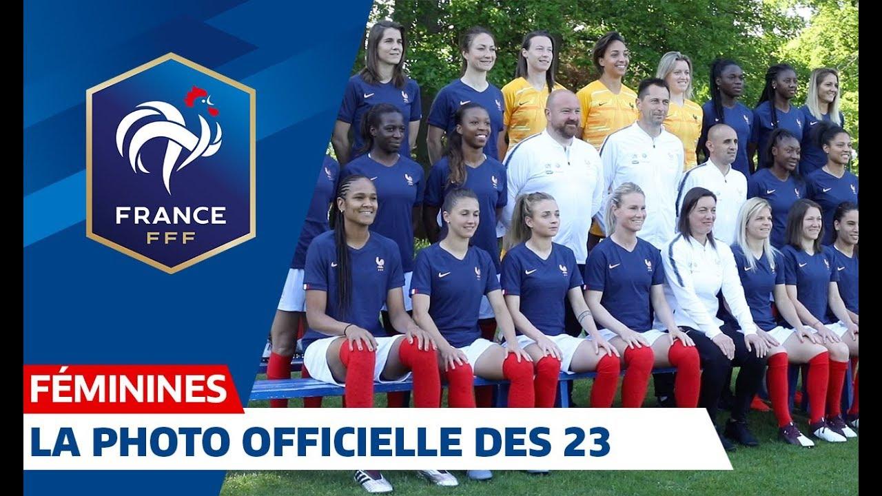 equipe de france f minine la photo officielle des 23 i fff 2019 youtube